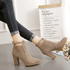 New store promotion crazy lower price high heel back zipper large size ankle lady Martin boots camel 42