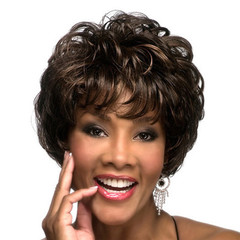 Short Curly Beauty Wigs For Women Natural Wigs Synthetic Women Wigs hair Black Brown As Picture as picture 11.8inch