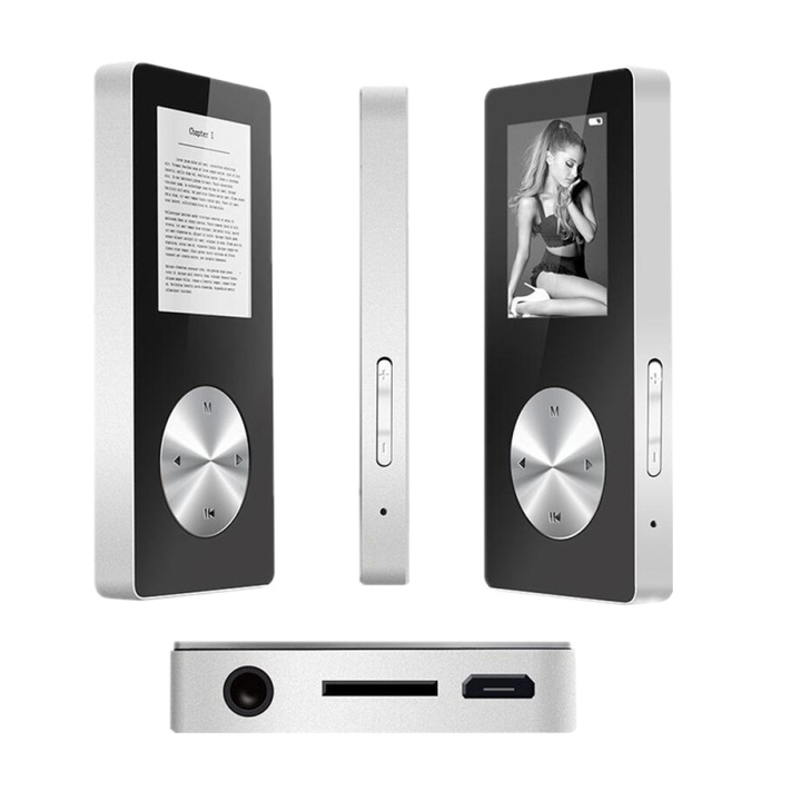 1.8 inch Sports MP4, Picture Browsing, Video Playing,Step counting function, recording Silvery