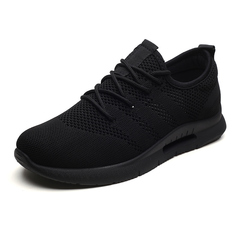 2019Summer Air Mesh Breathable Running Men Shoes Trends Comfortable Ultra Light Outdoor Sports Shoes black 39