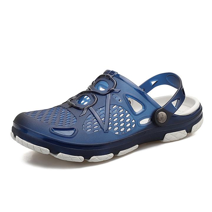 2019 New Men Sandals Summer Flip Flops Slippers Men Outdoor Beach Cheap Male Sandals Water Shoes Blue 40