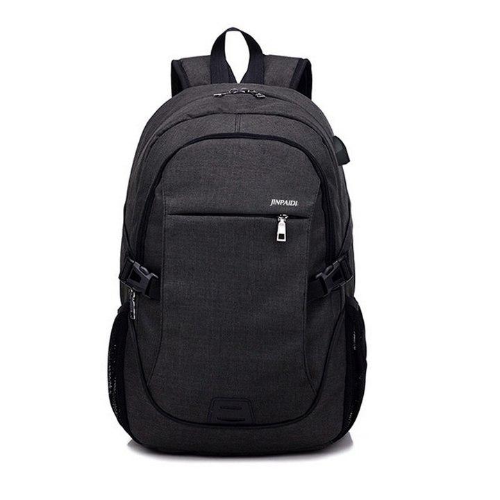 Large USB Charging Male Backpack Bag,15.6 Inch Laptop Notebook Waterproof Back Pack Bag 48*32*18CM Black 17*23*8(cm) Small bag
