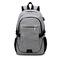 Large USB Charging Male Backpack Bag,15.6 Inch Laptop Notebook Waterproof Back Pack Bag 48*32*18CM Gray 48*32*18(cm)