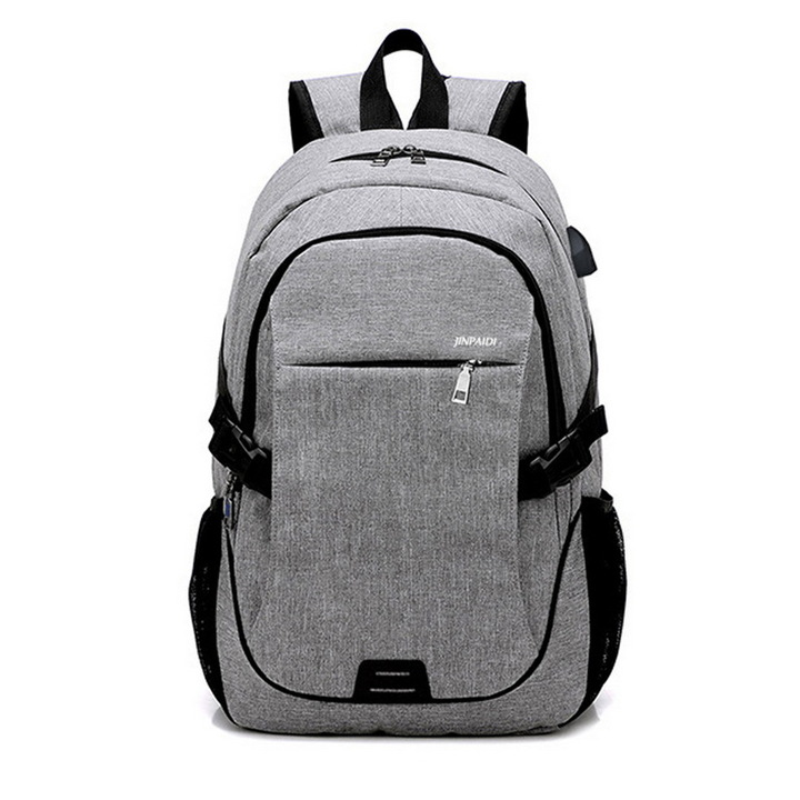Large USB Charging Male Backpack Bag,15.6 Inch Laptop Notebook Waterproof Back Pack Bag 48*32*18CM Gray 17*23*8(cm)