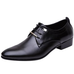 2019 Fashion Men's Formal Business Shoes Pointed Dress Shoes Big Size Oxfords Leather Men Shoes black 38 PU Leather