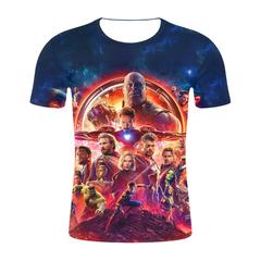Marvel 3D T-shirt: Avengers Endgame 4 movie short-sleeved T-shirt,2019 summer fashion men t-shirt 10 s Micro Fiber