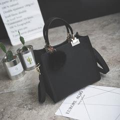 P.H Grinding Fashion Hand-held Single Shoulder Bag Simple Retro Single Shoulder Slant Handbag black one size