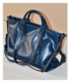 P.H 2019 fashion latest handbag women's single shoulder bag, leather lady bag blue one size