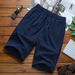 Pure color Sports shorts, men's thin, quick and dry 5-minute trousers running training basketball blue l