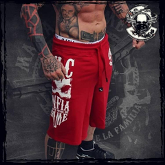 New Summer Sports shorts Men's Muscle Fitness Brothers Five-cent Pants Pure Cotton Fitness Pants red m