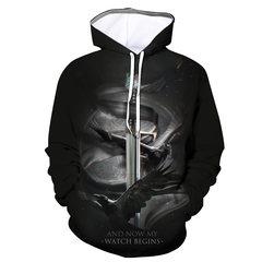 Game of Explosive Power Season 8 3D Digital Printed Hooded Couple's Sanitary Clothes a s