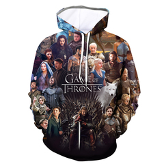 Game of Explosive Power Season 8 3D Digital Printed Hooded Couple's Sanitary Clothes Men Hoodies a s