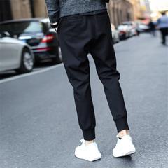 2019 Mens Casual Sweatpants Hip Hop Pants Streetwear Trousers Pure Colour Joggers Man Trousers black m