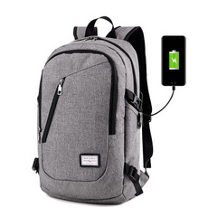 Fashion man laptop backpack usb charging computer backpacks casual style bags large male bags gray 48*26*13cm