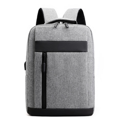 2019 New Men's Outdoor Travel Backpack Charged Backpack Business Short-distance Travel Bags gray 41*29*11cm