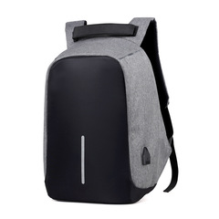 USB Waterproof Backpacks shockproof laptop school bags Men's Anti-theft travel backpacks gray 41*11*30cm