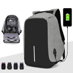 USB Waterproof Backpacks shockproof laptop school bags Men's Anti-theft travel backpacks blue 41*11*30cm