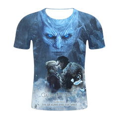3D Digital Printed T-shirt Game of Explosive Power Season 8 Short Sleeve T-shirt 1 s micro fiber