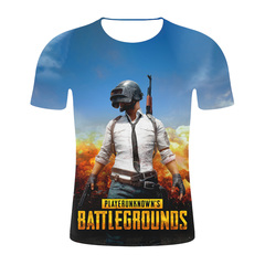 Pubg Chicken Game 3D Digital Printed Men's T-shirt 1 s micro fiber