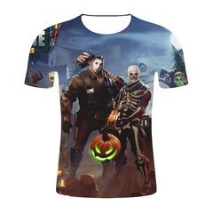 Fortnite T-shirt 3D Digital Printing Men's Round Neck Short Sleeve Fashion 3D Short Sleeve T-shirt 1 s micro fiber