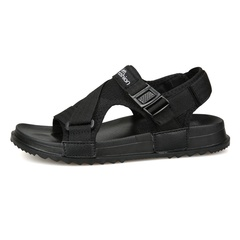 Sandals Men shoes 2019 Gladiator Men's Sandals Men Shoes Summer Flip Flops Flat Sandals Large Size black 40