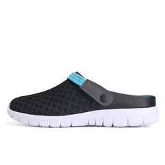 Summer Men Beach Shoes Breathable Light Casual Sandals Outdoor Flats Water Shoes Couple Footwear blue 40