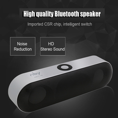 New NBY-18 Mini Bluetooth Speaker Portable Wireless Speaker Sound System 3D Stereo Music Surround silvery 10w NBY-18
