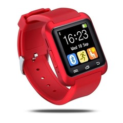 Fashion Unisex U80Plus Bluetooth Smart Watch for IPhone Android red onesize