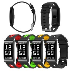 Fashion Women Men HM68 Bluetooth Watch  Bracelet Heart Rate Monitor Smart watch for Android IOS black Onesize