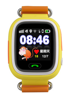 Q90 Kids GPS Smart Baby Watch with Wifi Touch Screen SOS Call Location Device orange onesize
