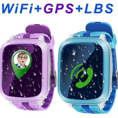 Kid Children Anti lost Waterproof Smart Watch Safe Phone GPS SOS Call Tracker Support SIM Card blue onesize