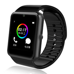 Bluetooth Smart Watch GT08 for Apple Iphone IOS Android Phone black onesize