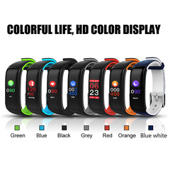 P1 Smart Bracelet Blood Pressure Waterproof  Activity Fitness Tracker Wristband for Android IOS black onesize