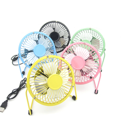 DC 5V Classic Low Noise Silent Personal Mini Metal USB Fan Desk table Fan for Room Office Cooling blue onesize