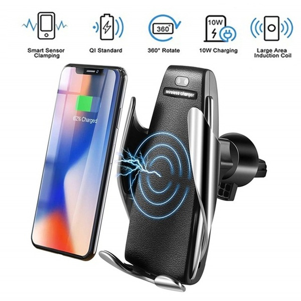 Magical Automatic Clamping Wireless Car Charger 360 Degree Rotation Charging Mount
