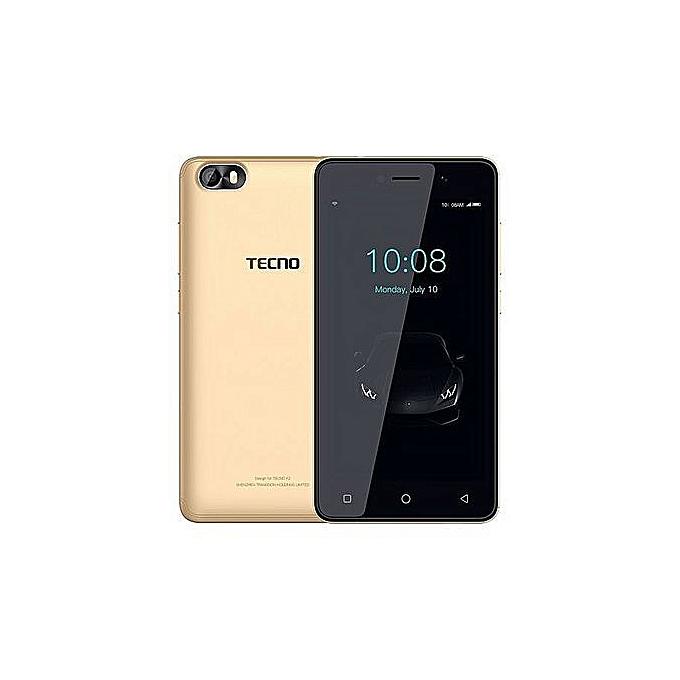 "TECNO TECNO F1 - 5.0""- 8GB Storage + 1GB RAM (Dual SIM), Gold. gold"