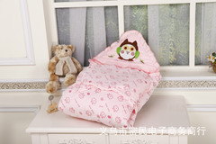 Baby cotton quilt in spring and summer and baby cotton quilt in newborn sleeping bag pink 90cm