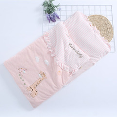 Colored cotton baby sleeping bag neonatal quilt cotton dual-purpose baby in spring, summer, autumn pink 48*87