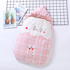 Baby Sleeping Bag Neonatal Baby Embraced by Spring, Summer and Autumn Neonatal Thin Anti-kicking pink 50*90