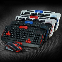 Wireless Gaming Keyboard Mouse Combos    USB Mechanical Mice black&red English