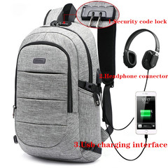 17-Inch Bags Business Laptop Backpack,Waterproof USBCharging Port & Headphone interface Gray 17-inch BLACK 17-inch