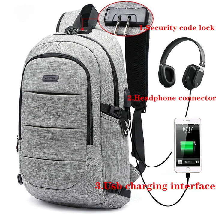 17-Inch Bags Business Laptop Backpack,Waterproof USBCharging Port & Headphone interface Gray 17-inch PURPLE 17-inch