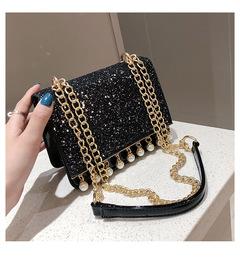 2019 new Chao Korean  version Baitao oblique Bag Fashion Chain single shoulder bag