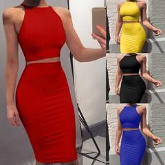 Mini Dress Women's Fashion Sexy Slim Solid Color Thin Shoulder Strap Dress Casual Wear Elegant Dress s red