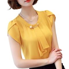 Sleeve Shirt Women Ladies Office Blouses Fashion Blusas yellow yellow m