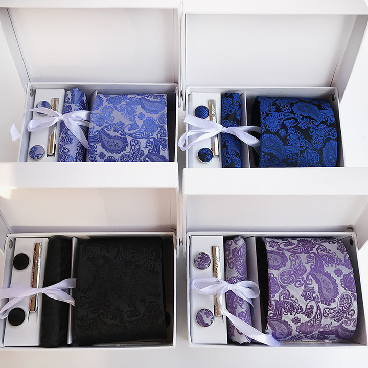Men's tie waistband 14-color spot gift box 6 suits group t ie business suit wedding tie O4 only