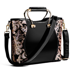 Painted Pearl Pieces Fashion Hand-held Inclined Spanning Female Bag Sequins black thy only