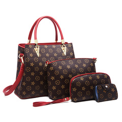 Women's Bag 2019 New European and American Fashion Handbags with Large Capacity brown thy only