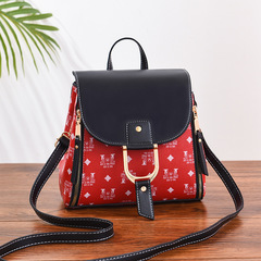 New Fashion Women's Backpack New Style Student's School Bag Fashion Leisure Korean Women's Bag red thy only
