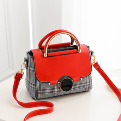 New Bag Women's Korean Sweet Fashion Women's Bag with One Shoulder Handbag Crossing the Border red thy only